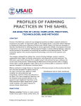 PROFILES OF FARMING PRACTICES IN THE SAHEL