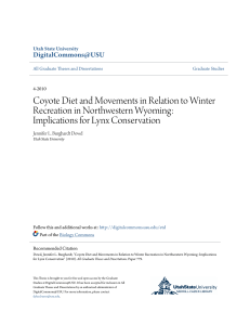 Coyote Diet and Movements in Relation to Winter Recreation in