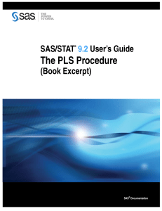 The PLS Procedure