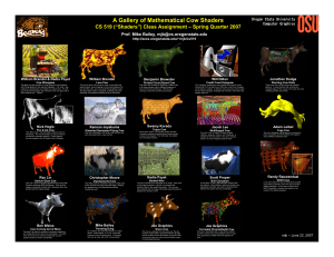 2007 Cow Poster - College of Engineering | Oregon State University