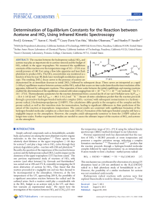 Determination of Equilibrium Constants for the