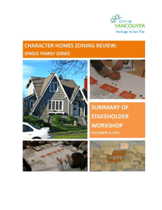 Character home zoning review: single family