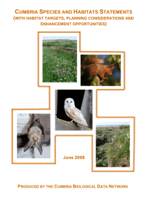 Cumbria Species and Habitats Statements
