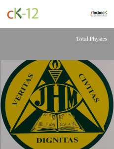1 Introduction to Physics - James M. Hill High School