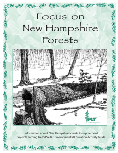Focus on NH Forests - NH Project Learning Tree