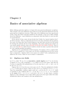 Basics of associative algebras