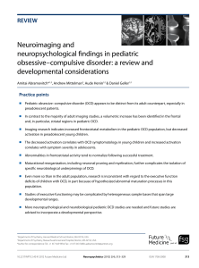 Neuroimaging and neuropsychological findings in