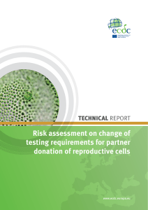 ECDC risk assessment on change of testing requirements for