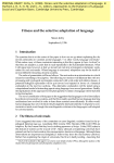 Fitness and the selective adaptation of language.
