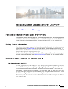 Fax and Modem Services over IP Overview