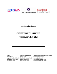 Contract Law in Timor-Leste