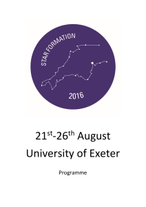 21 -26 August University of Exeter