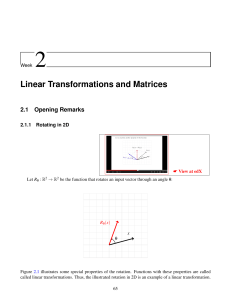 Linear Transformations and Matrices