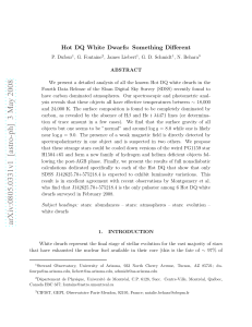 Hot DQ White Dwarfs: Something Different