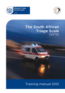 The South African Triage Scale