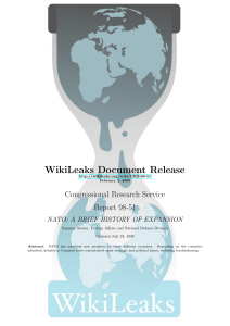 WIKILEAKS - Congressional Research Service - NATO: A