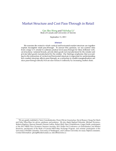 Market Structure and Cost Pass-Through in Retail