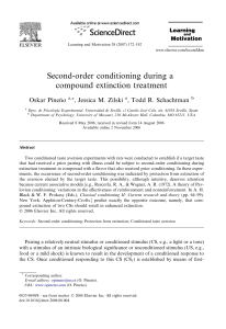 Second-order conditioning during a compound