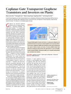 Coplanar-Gate Transparent Graphene Transistors and Inverters on