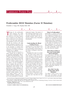 Prothrombin 20210 Mutation