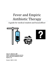 Fever and Empiric Antibiotic Therapy–2016