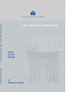 The European Central Bank - History, role and functions, October 2004