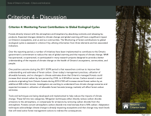 Criterion 4: Monitoring Forest Contributions to Global Ecological