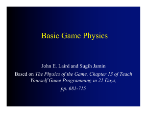 Basic Physics and Collision Detection