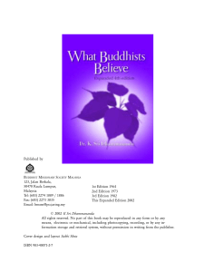 What Buddhists Believe Expanded 4th edition