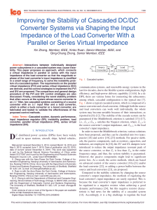 Improving the Stability of Cascaded DC/DC Converter Systems via