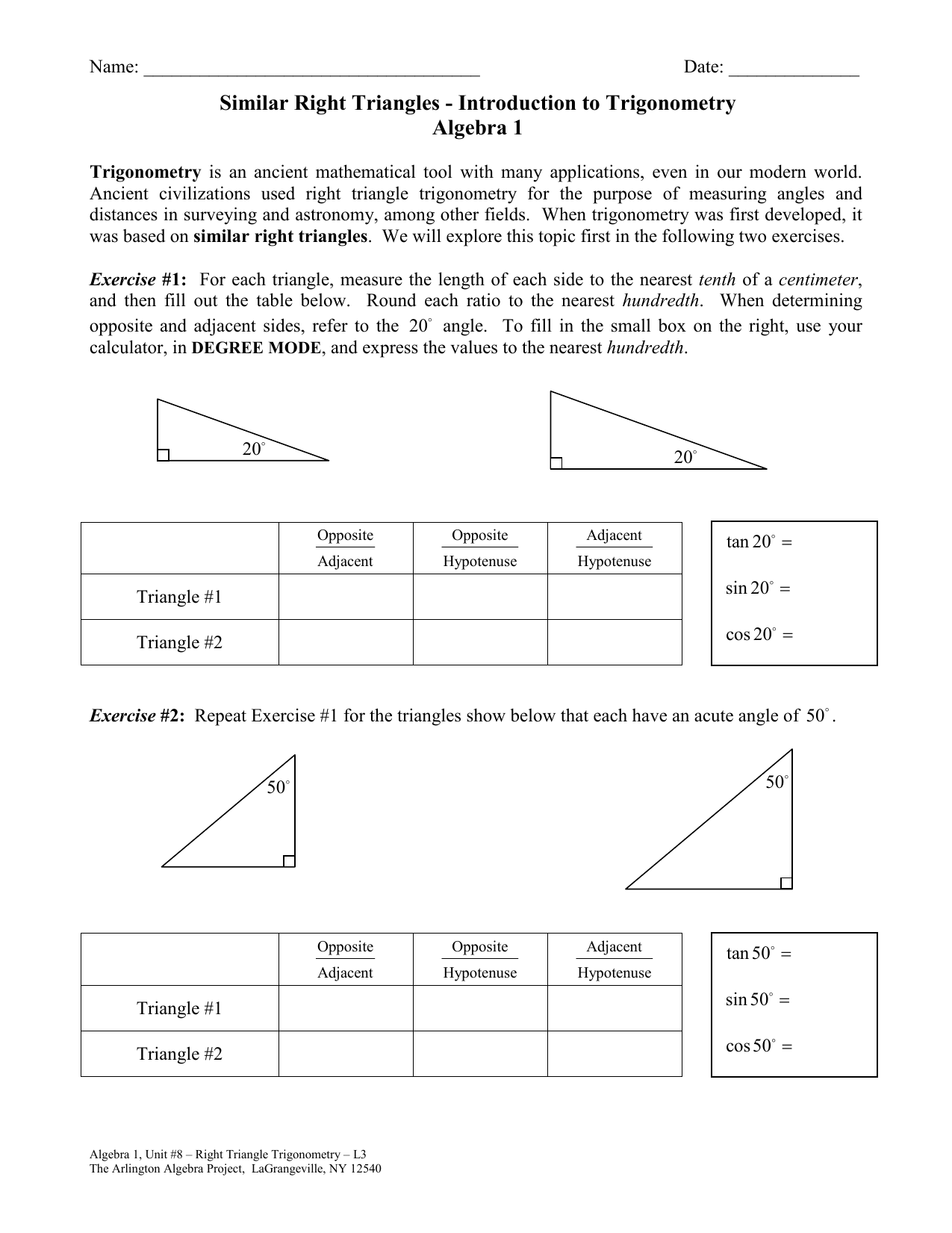 L3 Similar Right Triangles