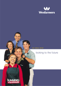 Wesfarmers Limited 2001 Annual Report