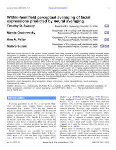 Within-hemifield perceptual averaging of facial expressions