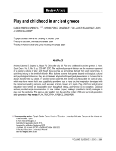 Play and childhood in ancient greece