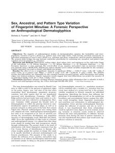 Sex, Ancestral, and Pattern Type Variation of