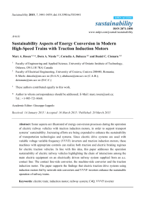 Sustainability Aspects of Energy Conversion in Modern High