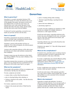 Gonorrhea - HealthLinkBC File #08a - Printer
