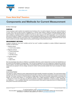 Components and Methods for Current Measurement