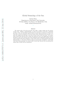 Global Seismology of the Sun