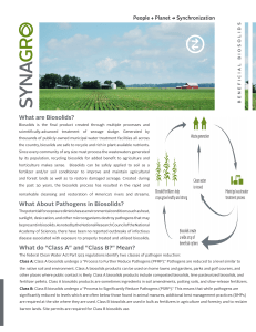 What are Biosolids? What About Pathogens in Biosolids? What do
