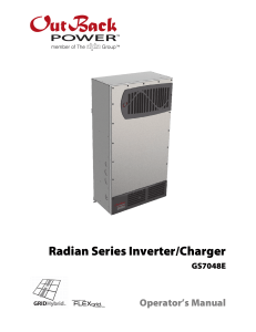 Radian Series Inverter/Charger