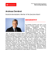 Andreas Dombret BIOGRAPHY - 9th Santander International