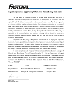 Equal Employment/Affirmative Action Policy Statement