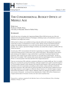 the congressional budget office at middle age