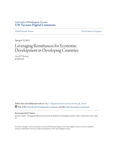 Leveraging Remittances for Economic Development in Developing