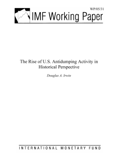 The Rise of US Antidumping Activity in Historical Perspective
