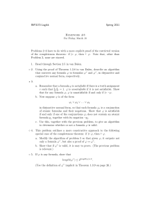 INF3170 Logikk Spring 2011 Homework #8 Problems 2–6