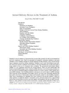 Aerosol Delivery Devices in the Treatment of Asthma