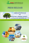 press release - Integrated Research and Action for Development