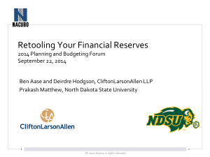 Retooling Your Financial Reserves